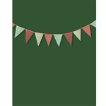 Holiday Green Bunting Printed Backdrop
