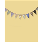 Chevron Bunting on Yellow Printed Backdrop