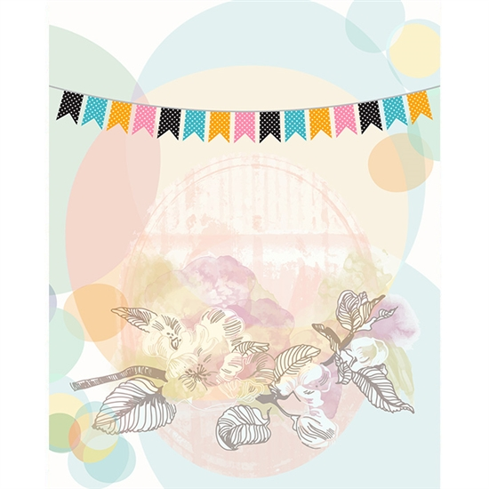 Vintage Flowers Printed Backdrop