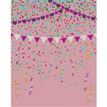 Princess Confetti Printed Backdrop