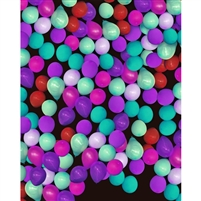 Purple & Mint Balloon Wall Printed Backdrop