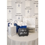 Nautical Birthday Printed Backdrop