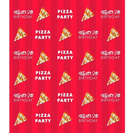 Pizza Party Custom Backdrop