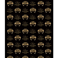 """Golden Years"" Custom Printed Backdrop (Black Background)"