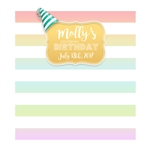 Pastel Custom Birthday Backdrop