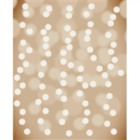 Hazelnut Bokeh Printed Backdrop - Poly Paper - 4ft (w) x 5ft (h)