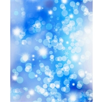 Blue Shimmering Snowflakes Printed Backdrop
