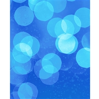 Ocean Blue Bokeh Printed Backdrop