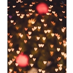 Beating Heart Bokeh Printed Backdrop