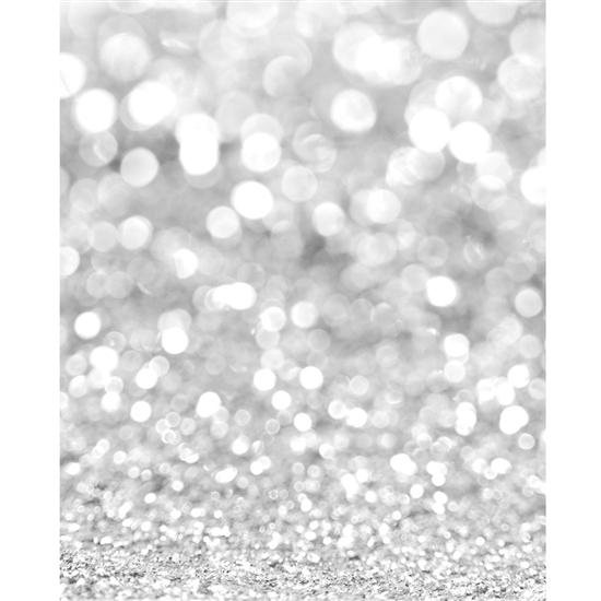 Silver Glitter Bokeh Printed Backdrop Backdrop Express