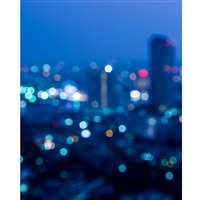 City Life Bokeh Printed Backdrop
