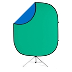 Chroma Green / Blue Collapsible & Reversible Backd