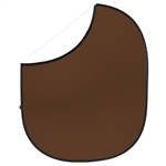 White / Cocoa Brown Collapsible & Reversible Backdrop