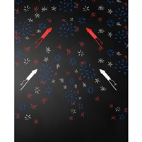 4th of July Chalkboard Printed Backdrop