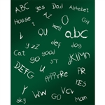 ABC's Chalkboard Printed Backdrop