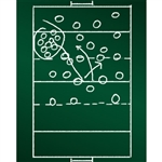 Football Play Chalkboard Printed Backdrop