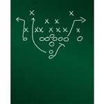 Game Plan Chalkboard Printed Backdrop
