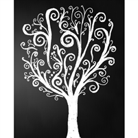 Decorative Tree Chalkboard Printed Backdrop