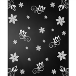 Flowers Chalkboard Printed Backdrop