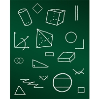 Geometry Chalkboard Printed Backdrop