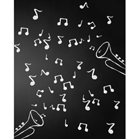 Musical Notes Chalkboard Printed Backdrop