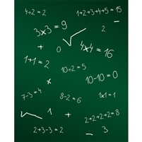Math Chalkboard Printed Backdrop