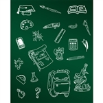 School Life Chalkboard Printed Backdrop