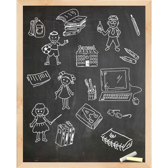 Framed Friends Chalkboard Printed Backdrop