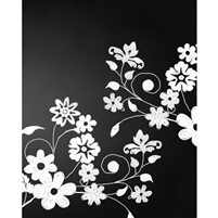 Spring Flowers Chalkboard Printed Backdrop