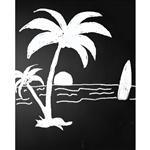 Beach Chalkboard Printed Backdrop