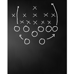 Offensive Play Chalkboard Printed Backdrop