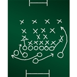 Soccer Strategy Chalkboard Printed Backdrop