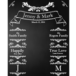 Wedding Banner Chalkboard Printed Backdrop