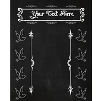 Ever After Chalkboard Printed Backdrop
