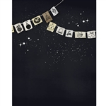 Holiday Bunting Chalkboard Printed Backdrop