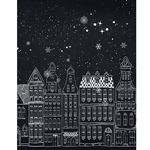 Gingerbread City Printed Backdrop