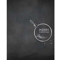 Chalkboard Ornament Printed Backdrop