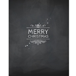 Merry Christmas Chalkboard Printed Backdrop