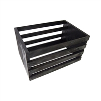 Black Wooden Posing Crate