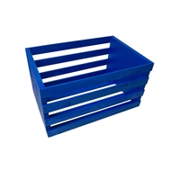 Blue Wooden Posing Crate