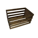 Walnut Stained Wood Posing Crate