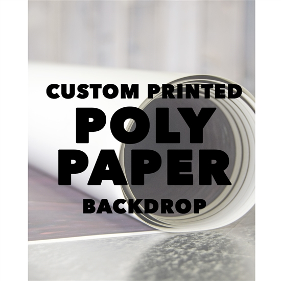 Custom Poly Paper Backdrop