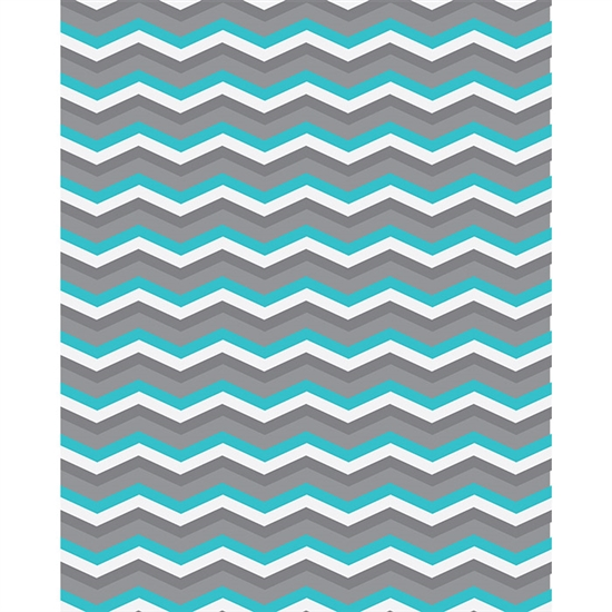 Blue & Gray Chevron Printed Backdrop