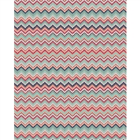 Red & Gray Chevron Printed Backdrop