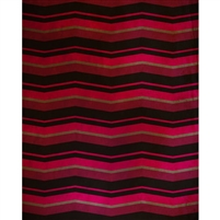 Red & Pink Chevron Printed Backdrop