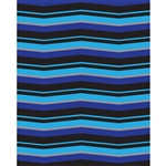 Deep Blue & Aqua Chevron Printed Backdrop