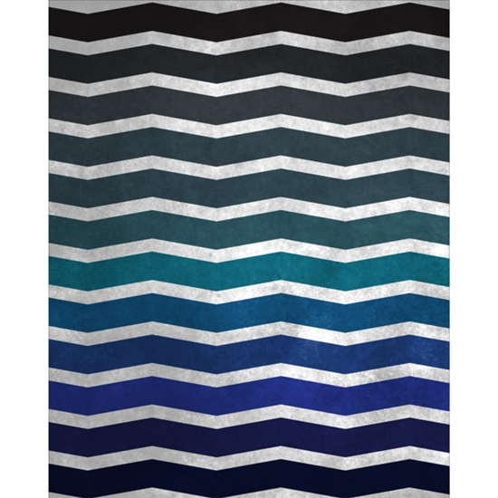 Distressed Blue Chevron Printed Backdrop
