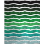 Distressed Green Chevron Printed Backdrop