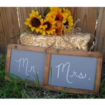 Barnwood Hanging Chalkboard Photo Props - Set of 2
