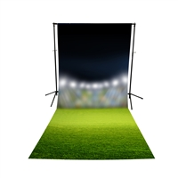 Stadium Lights Floor Extended Printed Backdrop
